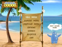 Aqua Words for PocketPC Game screenshot 1