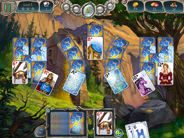Avalon Legends Solitaire 2 Game screenshot 1