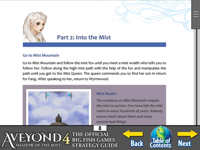 Aveyond 4: Shadow of the Mist Strategy Guide Game screenshot 2