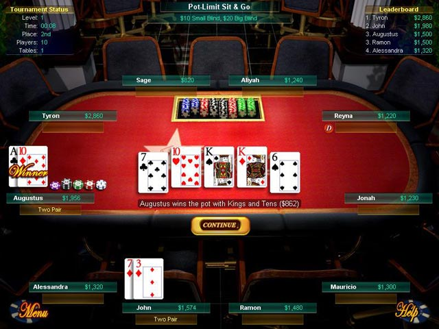 Big Fish Games Texas Hold'Em Game screenshot 1