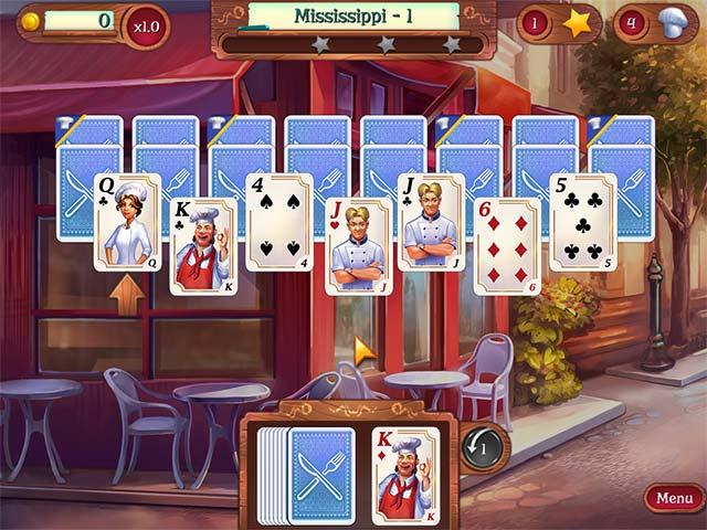 Chef Solitaire: USA Game screenshot 1