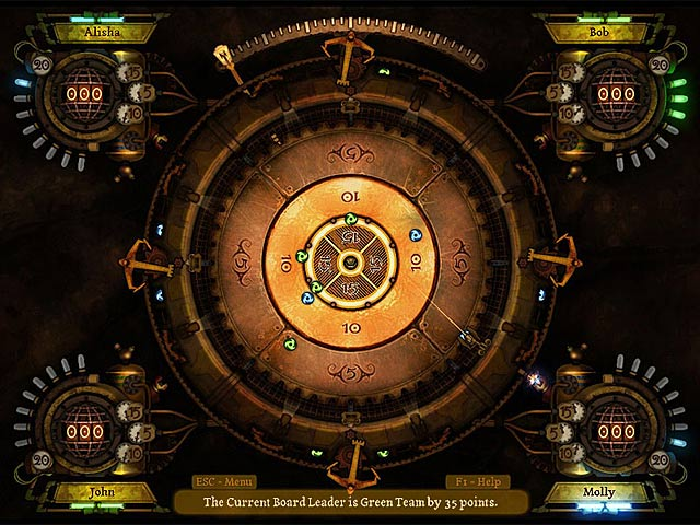 Clockwork Crokinole Game screenshot 1