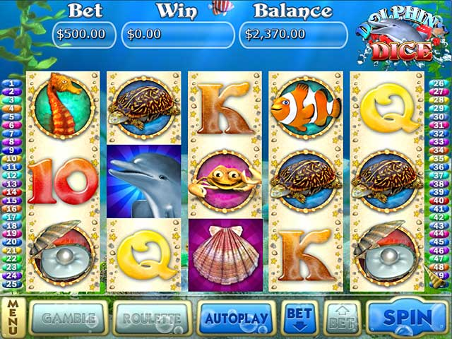 Dolphins Dice Slots Game screenshot 1