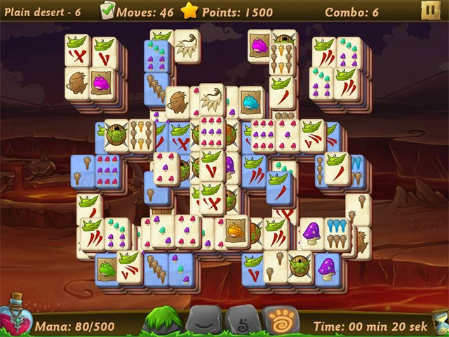 Elves vs. Goblin Mahjongg World Game screenshot 3