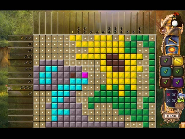 Fantasy Mosaics 21: On the Movie Set Game screenshot 1