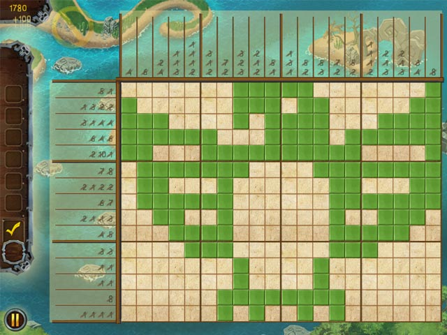 Fill and Cross Pirate Riddles 3 Game screenshot 1