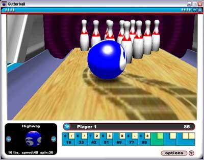 Gutterball Game screenshot 1