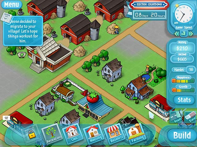 Happyville: Quest for Utopia Game screenshot 3