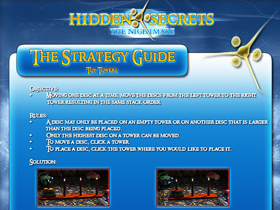 Hidden Secrets: The Nightmare Strategy Guide Game screenshot 1