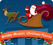 Free Holiday Mosaics Christmas Puzzles Game