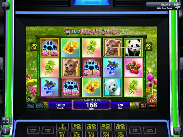 IGT Slots: Wild Bear Paws Game screenshot 1