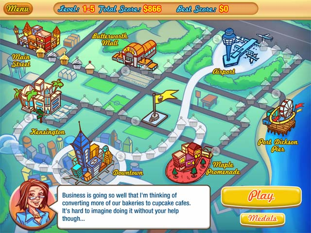 Jessica's Cupcake Cafe Game screenshot 2