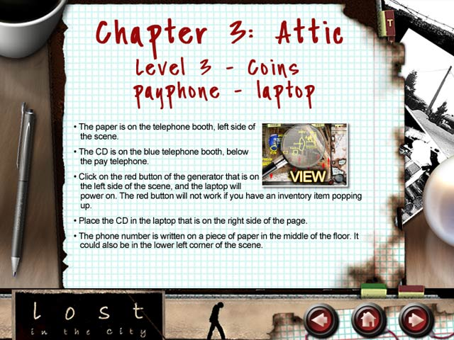 Lost in the City Strategy Guide Game screenshot 2