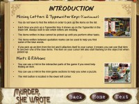 Murder, She Wrote Strategy Guide Game screenshot 1