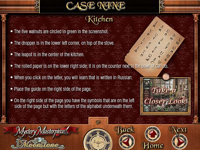 Mystery Masterpiece: The Moonstone Strategy Guide Game screenshot 2
