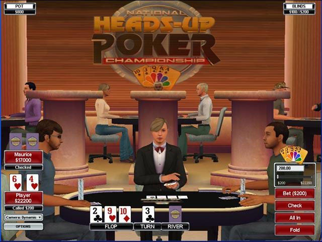 NBC Heads-Up Poker Game screenshot 1
