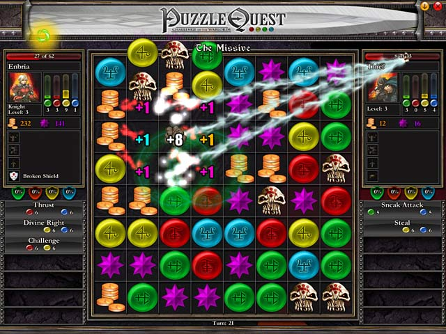 Puzzle Quest Game screenshot 1