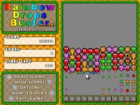 Rainbow Drops Buster Deluxe Game screenshot 2