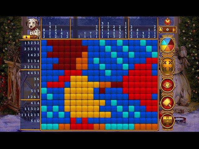 Rainbow Mosaics: Christmas Lights 2 Game screenshot 2