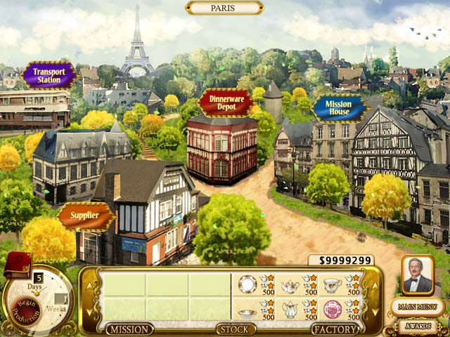 Rare Treasures: Dinnerware Trading Company Game screenshot 1