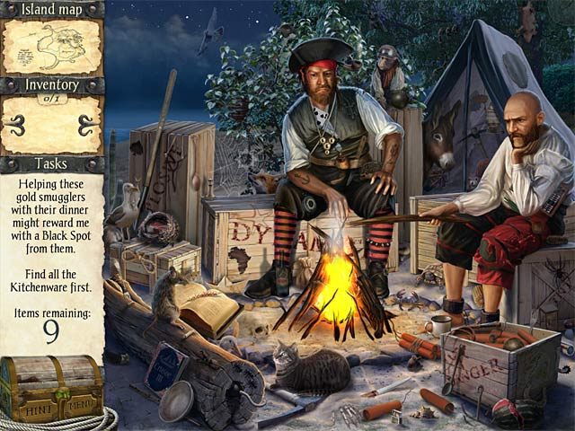 Robinson Crusoe and the Cursed Pirates Game screenshot 1