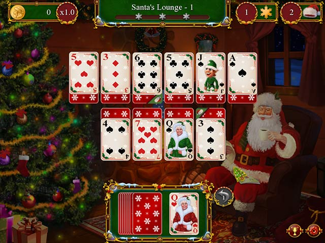 Santa's Christmas Solitaire Game screenshot 1
