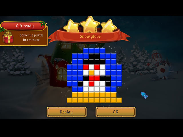 Santa's Workshop Mosaics Game screenshot 2
