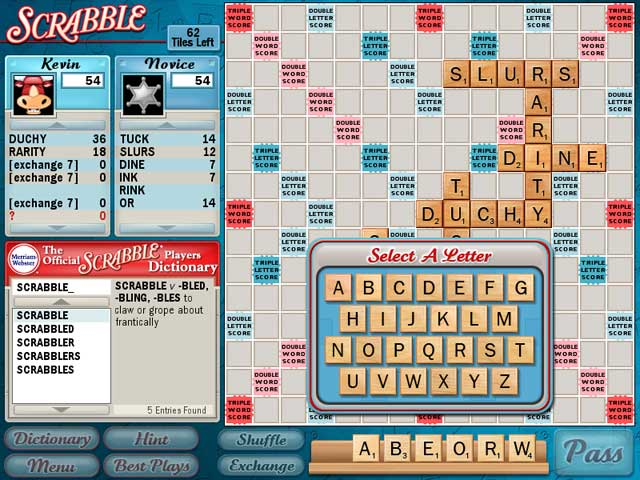 free download of scrabble game