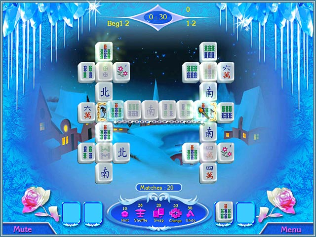 Snow Queen Mahjong Game screenshot 1