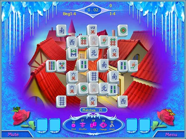 Snow Queen Mahjong Game screenshot 2