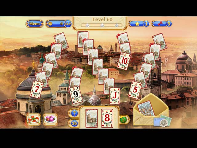 Solitaire Italian Trip Game screenshot 1