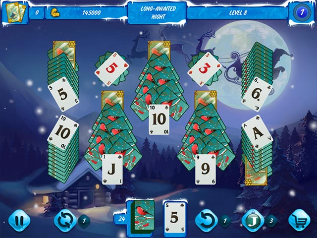 Solitaire Jack Frost: Winter Adventures Game screenshot 2