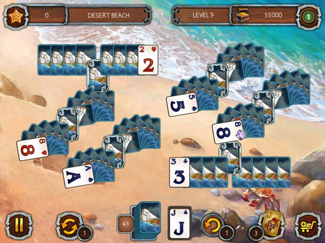 Solitaire Legend Of The Pirates 2 Game screenshot 1