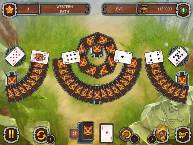 Solitaire Legend of the Pirates Game screenshot 1