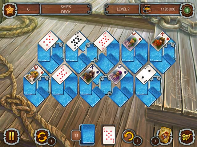 Solitaire Legend of the Pirates Game screenshot 3