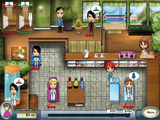 Spa Mania Game screenshot 1