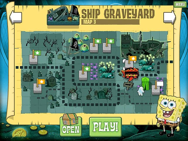 SpongeBob SquarePants Atlantis SquareOff Game screenshot 1