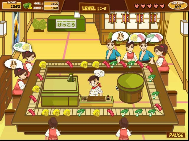 Sushi Frenzy Game screenshot 1