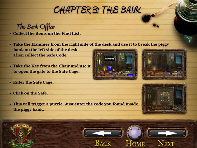 The Return of Monte Cristo Strategy Guide Game screenshot 2