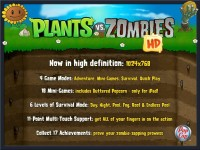 Plants vs. Zombies HD Download iPad Game image 1