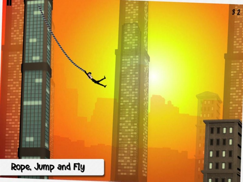 Rope'n'Fly: From Dusk Till Dawn iPhone Game Download image 2