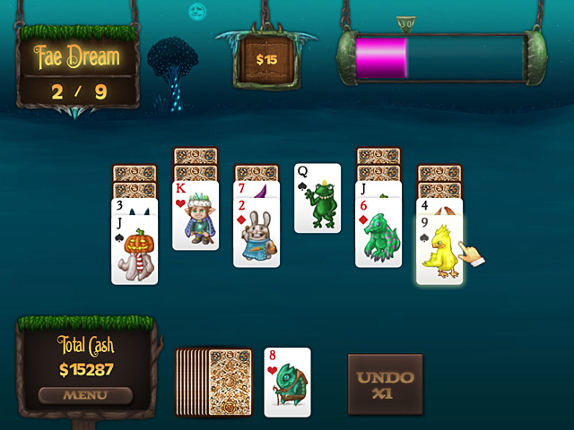 Faerie Solitaire Mac Game screenshot 1