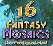 Free Fantasy Mosaics 16: Six colors in Wonderland Mac Game