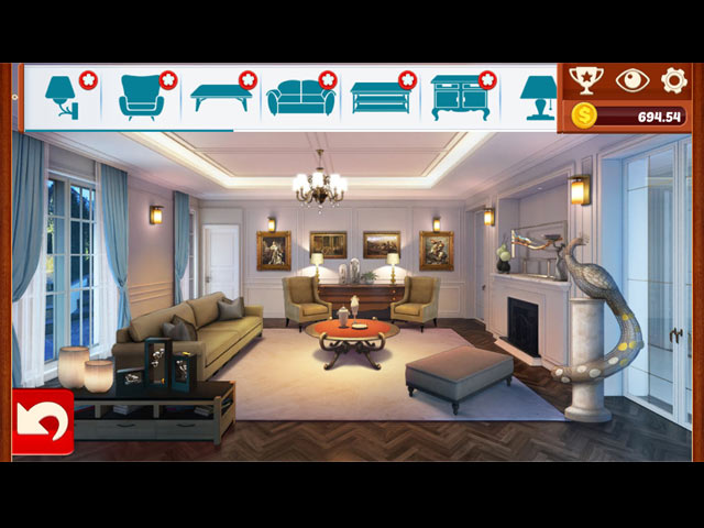 Home Designer: Living Room Mac Game screenshot 1