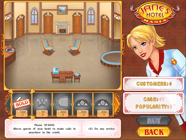 Jane's Hotel Mania Mac Game screenshot 2