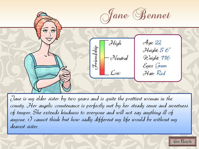 Matches and Matrimony: A Pride and Prejudice Tale Mac Game screenshot 3