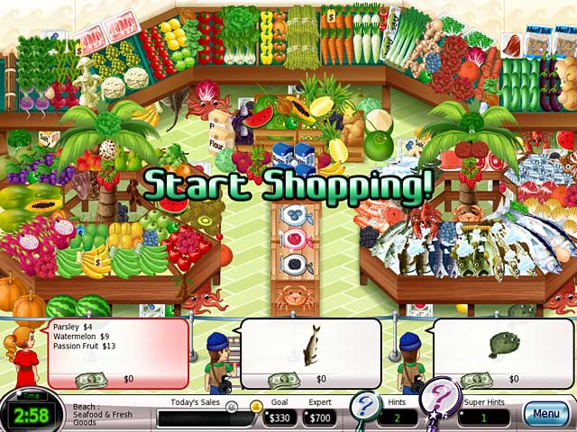 Shop-N-Spree Family Fortune Mac Game screenshot 1