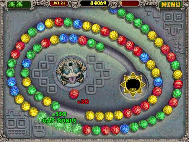 Zuma Deluxe Mac Game screenshot 1