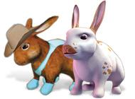 Лого Мини игры 101 любимчик. Пушистые зайчата