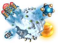 Лого Мини игры Планета битвы 2. Миры вдалеке